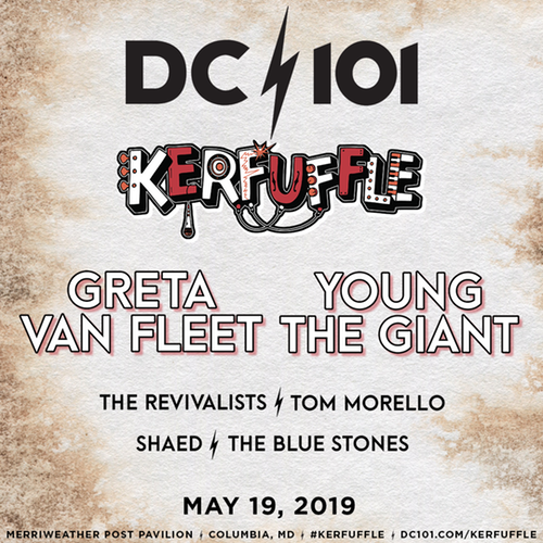 DC101 Kerfuffle: Greta Van Fleet, Young the Giant, The Revivalists, Tom Morello & Shaed at Merriweather Post Pavilion