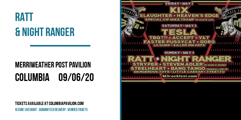 RATT & Night Ranger at Merriweather Post Pavilion